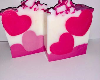 heart soap/ Valentines Day/ hearts/ organic soap/ natural soap/ heart soaps/ gifts for her/ gift/ valentines/ heart/ soap/ vegan soap