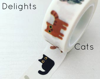 Cat washi tape, cute cat washi
