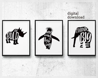 3 Piece Wall Art, Funny Print Poster Set of 3 Cute Office Decor, Mens Office Decor, Motivational for Him, Printable