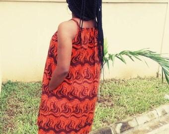 Lovely Orange Ankara dress