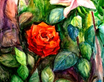 Rose artwork Wall painting Original painting Rose oil painting Red rose painting Floral paintings Canvas painting Oil painting flower roses