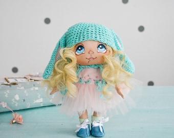 Handmadedoll, Babydoll, Textiledoll, Clothdoll, Nurserydoll, Fabricdoll, Pinkdoll, Artdoll, Softdoll, Decor, Interiordoll, White, Childhood