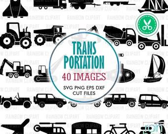 Transportation Svg File, Transportation Clipart, Transport Svg, Transport Clipart, Transportation Decal, Construction Svg, Svg Originals