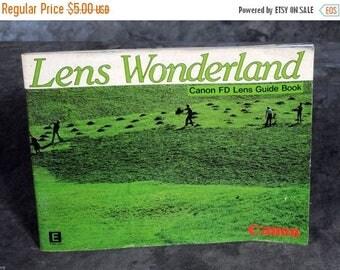 Summer Sale Lens Wonderland Canon FD Lens Guide Book 1982 Original Lenses Booklet