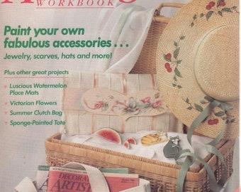 Decorative Artists Workbook Patterns Inside August 1989 Paint Your Accessories