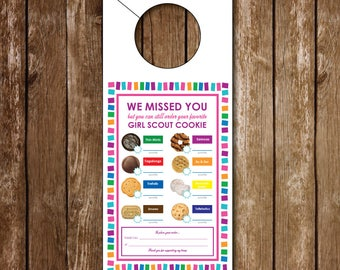 Girl Scouts Doorhanger   Printable   LBB   Cookie Hanger