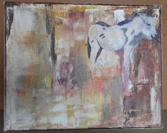 burro in rain