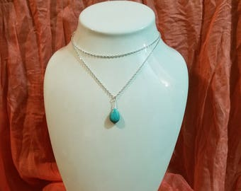 Turquoise Tear Drop - FREE SHIPPING