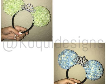 Princess Ears, Mouse Ears with Crown,Multiple color ears, Crown Ears,Tiara ears, Minnie Ears, mickey ears, Mouse Ears, Princess, disney ears