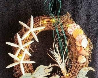 Mermaid Grapevine Wreath