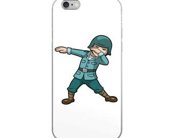 Dabbing Soldier Funny iPhone Case - Iphone 7 case - Iphone 8 case - Iphone 7 plus case - Iphone 6 case - Iphone X case