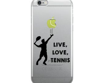 Tennis Lover iPhone Case - Iphone 7 case - Iphone 8 case - Iphone 7 plus case - Iphone 6 case - Iphone X case