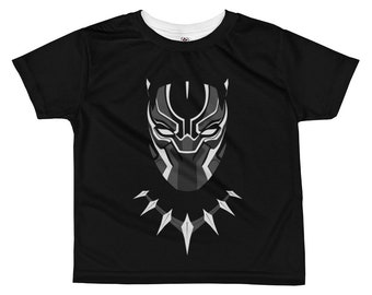 Black Panther All-over kids sublimation T-shirt - Funny kids t-shirt - Kids clothes - Kids tee - Funny kids t-shirts - Black Panther t-shirt
