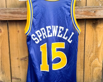 b83dd2925 ... 15 Throwback 1995 Vintage NBA Champion Jersey Golden State Warriors  Latrell Sprewell ...