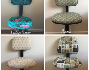 Re-upholstered office chairs - retro style (Ready made)
