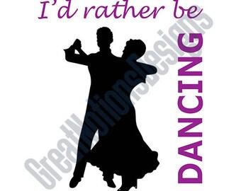 Ballroom Dancing SVG - HTV - Vinyle Cutting Graphic Art