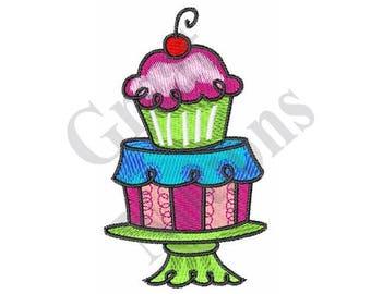 Cake Cupcake Dessert - Machine Embroidery Design