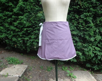 Plum and green fabric wrap skirt