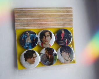 "Harry Styles - Pinback Button/Badge Pack (1.25"") - One Direction, 1D, Solo"