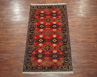 4X8 Antique Persian Tabriz Area Rug Oriental Hand-Knotted Wool Carpet (4.4 x 7.10)