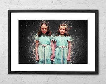 Shining Twins - Illustration - The Shining - Stanley Kubrick - Movie Poster - Horror Art - Horror Movie - The Shining Poster - Stephen King