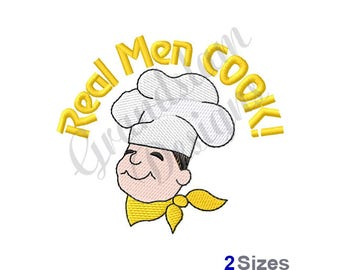 Real Men Cook - Machine Embroidery Design