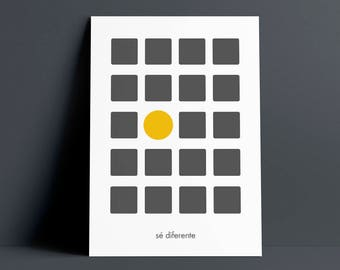 "Minimalist poster ""be different"""