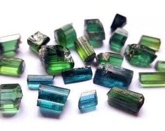 Superb quality NATURAL blue and green cutting pieces tourmaline cryatals from Afghanistan 92 60 carats.