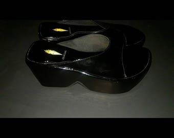 RARE Vintage 90s Platform Wedge Sandals by Volatile