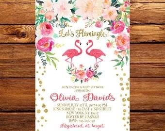 Lets Flamingle Baby Shower Invitation, Flamingo Baby Shower Invitation, Flamingle Baby Shower Invites, Flamingo Baby Shower Invites 244