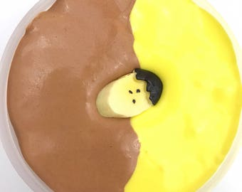Homemade Chocolate Banana Taffy Scented Slime 8oz - Smells So Yummy!