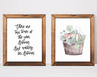 Fall Quote Art, Thanksgiving Decor, Rustic Pumpkin Decor, Fall Mantle Decor, Farmhouse Decor, Home Decor, Farmhouse Style, Fall Home Decor