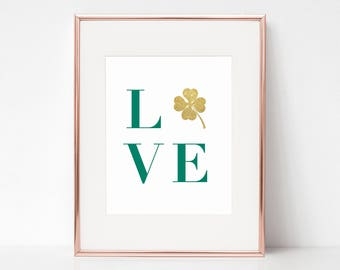 "LOVE, St. Patrick's Day 8""x10"" Wall Art by Arbor Grace Collections"