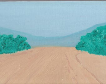 Oil Painting Open Road