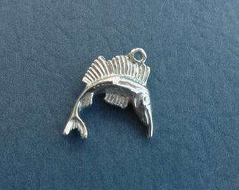 Sterling Silver 3D Fish Charm