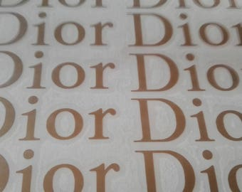 10 Dior Stickers Dior Decal Dior Party Stickers Envelope seals Fashion Party Decor