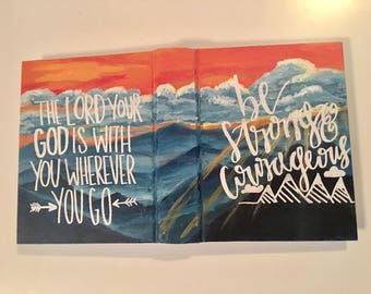 Custom Landscape Hand Painted Bible