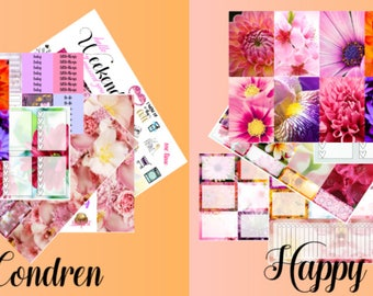 Floral full kit for Erin Condern Vertical and Happy Planner