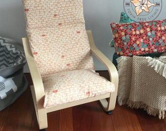 Housse pour la chaise poang de chez ikea en simili cuir tissu for Housse fauteuil poang