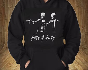 President Trump, General Mattis Fire and Fury Game of Throne Style Sweatshirt Hoodie Funny