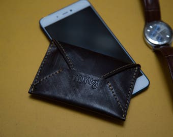Nomy E - Porte carte 100% cuir fabriqué à la main