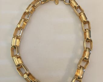 Vintage Erwin Pearl Gold Tone Choker Necklace