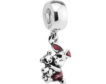 Piglet inspired Charm 925 Silver New for Pandora bracelet. Winnie the Pooh inspired dangle charm