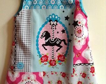 """Merry-go-round"" trapeze dress"