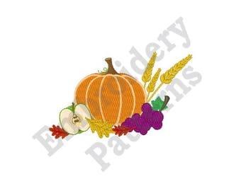 Pumpkin Centerpiece - Machine Embroidery Design