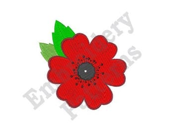 Remembrance Day Poppy - Machine Embroidery Design