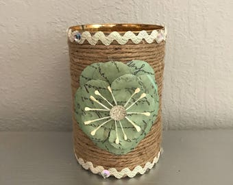 Shabby Country Chic Candle Holder