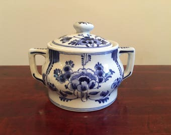 Vintage Delft Small Jar With Lid