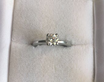 Handmade 3/4ct VS2 Diamond Solitaire with GIA Certification