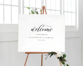 Welcome To Our Wedding Sign Template, Printable Welcome Sign, Wedding Welcome Sign, Welcome Sign Instant Download, Welcome Signs - KPC04_303